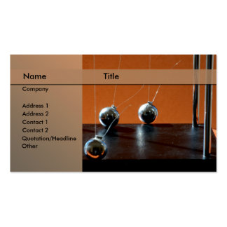 Newton's cradle Double-Sided standard business cards (Pack of 100)