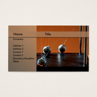 Newton's cradle business card