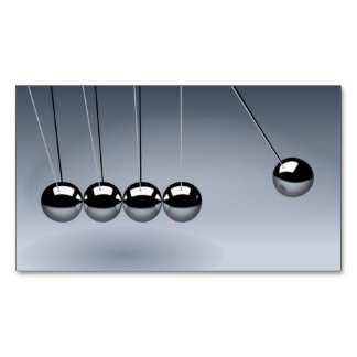 NEWTON'S CRADLE ~.jpg Magnetic Business Cards (Pack Of 25)