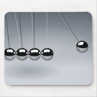 Newton's cradle mouse pad