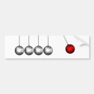 newtons cradle silver balls concept car bumper sticker