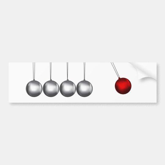 newtons cradle silver balls concept bumper sticker