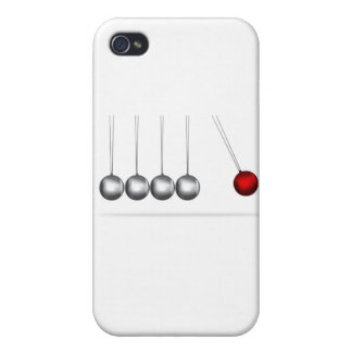 newtons cradle silver balls concept iPhone 4/4S covers