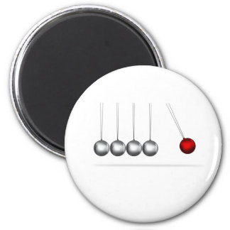 newtons cradle silver balls concept 2 inch round magnet