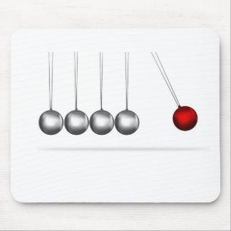 newtons cradle silver balls concept mouse pad