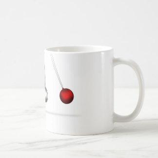 newtons cradle silver balls concept classic white coffee mug