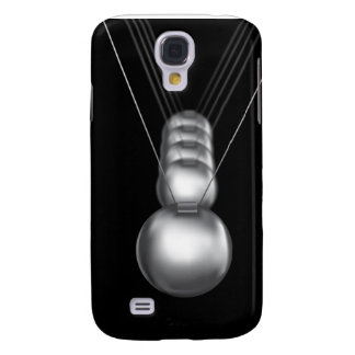 newtons cradle silver balls on black background samsung galaxy s4 cover