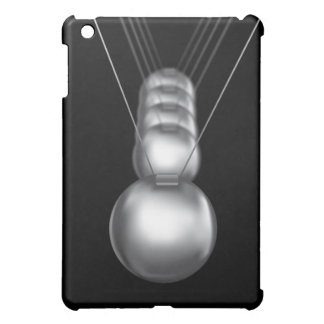 newtons cradle silver balls on black background case for the iPad mini