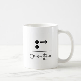 Newton's First Law Coffee Mug
