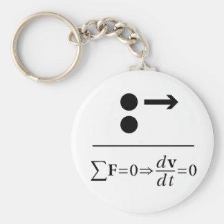 Newton's First Law Keychain
