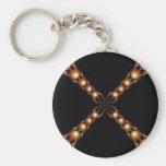 Newton's Golden X Keychain