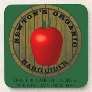 Newton's Hard cider coaster