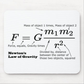 Newton's Law of Universal Gravitation Mouse Pad