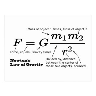 Newton's Law of Universal Gravitation Postcard
