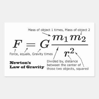 Newton's Law of Universal Gravitation Rectangular Sticker