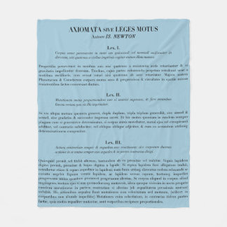 Newton's Laws of Motion fleece throw blanket- blue