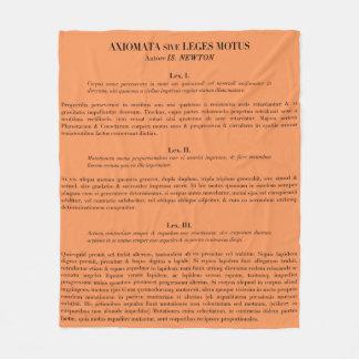 Newton's Laws of Motion fleece throw blanket-melon