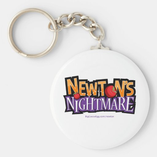 Newtons Nightmare Physics Game Gear Key Chain