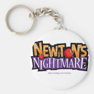 Newtons Nightmare Physics Game Gear Basic Round Button Keychain