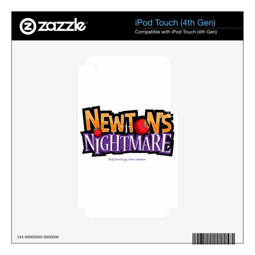 Newtons Nightmare Physics Game Gear iPod Touch 4G Skin