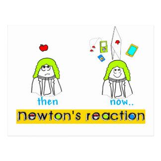 Newtons Reaction Postcard