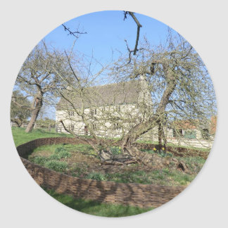 Newton's Tree at Woolthorpe Manor Classic Round Sticker