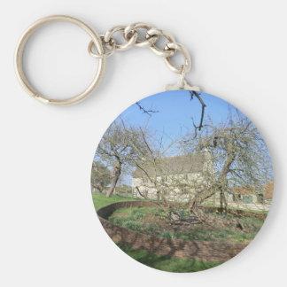 Newton's Tree at Woolthorpe Manor Key Chain