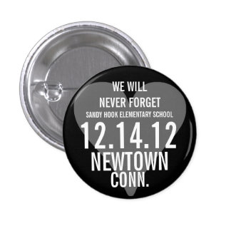 Newtown CT nunca olvidaremos el botón Pins