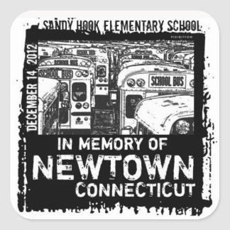 Newtown Memory Bus Square Sticker