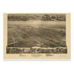 Newtown, PA Panoramic Map - 1893 Poster