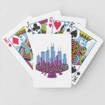 Newwave del horizonte de Chicago fresco Baraja Cartas De Poker