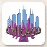 Newwave del horizonte de Chicago fresco Posavasos De Bebidas