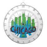 Newwave del horizonte de Chicago primario Tablero Dardos