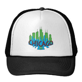 Newwave del horizonte de Chicago primario Gorros