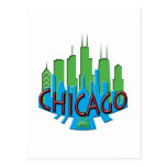 Newwave del horizonte de Chicago primario Tarjeta Postal