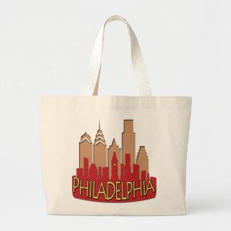 Newwave del horizonte de Philly caliente Bolsa De Tela Grande