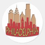 Newwave del horizonte de Philly caliente Pegatinas