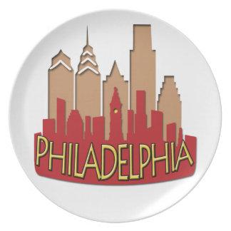 Newwave del horizonte de Philly caliente Plato Para Fiesta