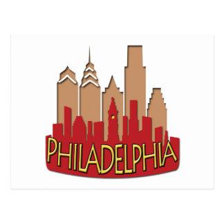 Newwave del horizonte de Philly caliente Tarjetas Postales