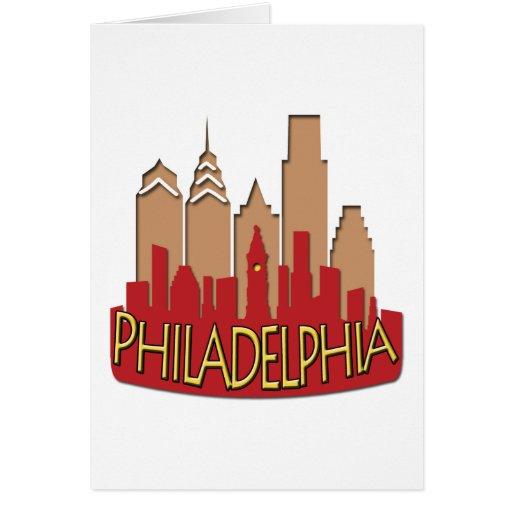 Newwave del horizonte de Philly caliente Tarjetas