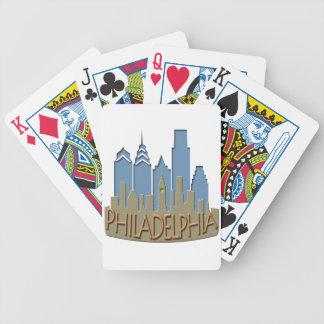 Newwave del horizonte de Philly con playas Baraja Cartas De Poker