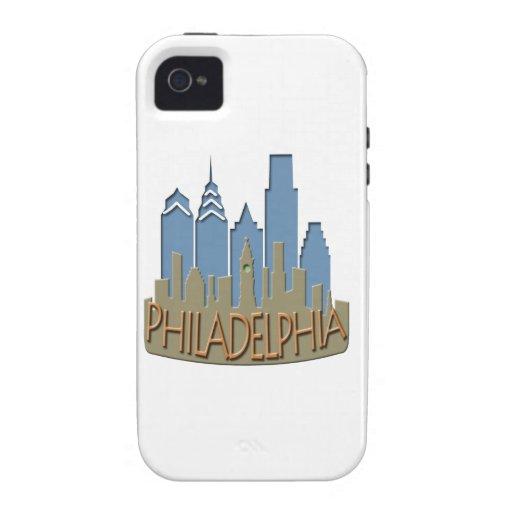 Newwave del horizonte de Philly con playas iPhone 4 Fundas