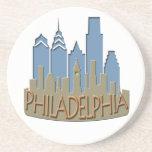 Newwave del horizonte de Philly con playas Posavasos Diseño