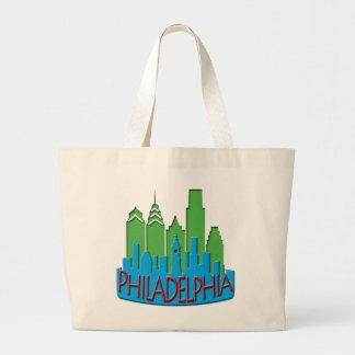 Newwave del horizonte de Philly primario Bolsa De Tela Grande