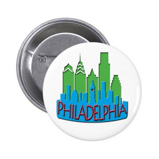 Newwave del horizonte de Philly primario Pins