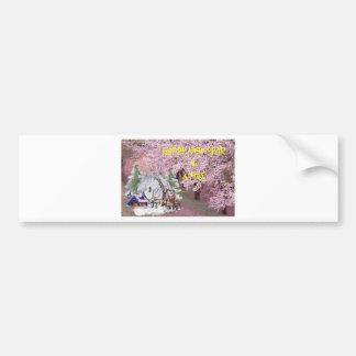 newyear&x-merry bumper sticker