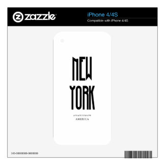 NewYork Coordinate Decals For The iPhone 4