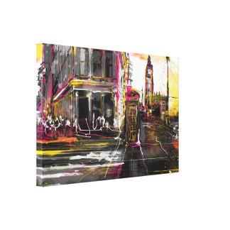 Newyork & London Canvas Print