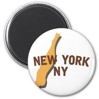 Newyork NY 2 Inch Round Magnet