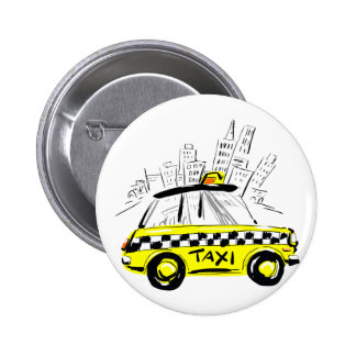 newyork taxi pinback button